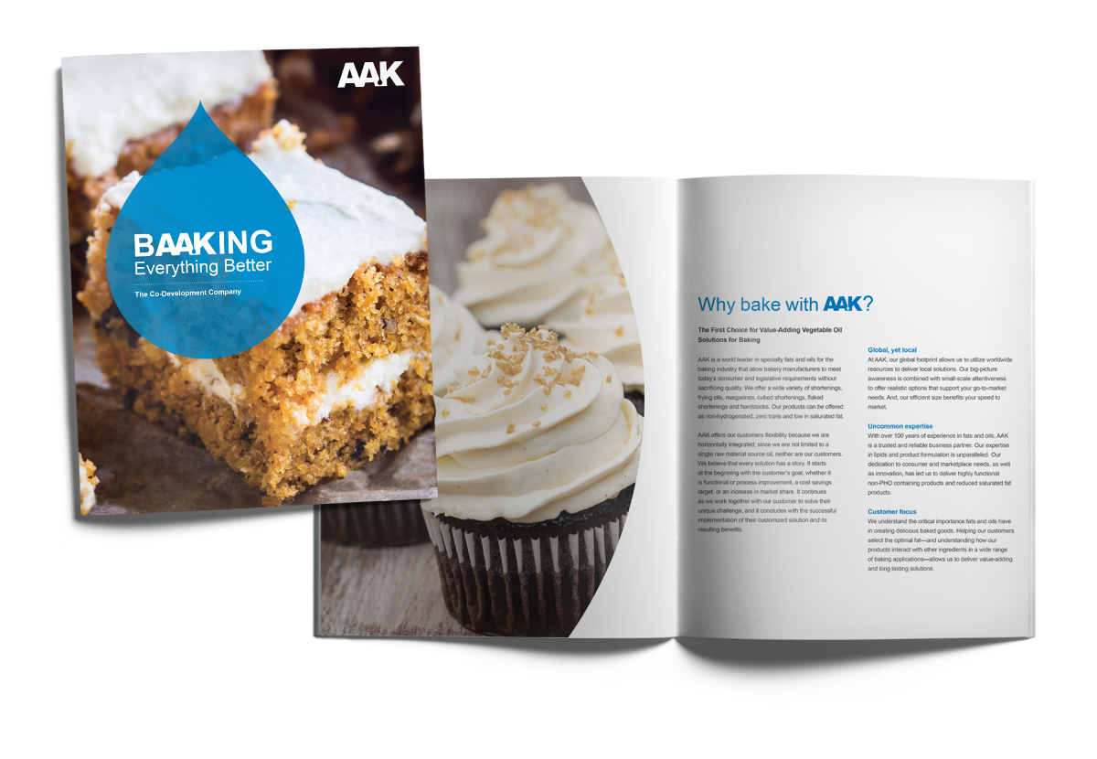 AAK Baking Brochure with cakes
