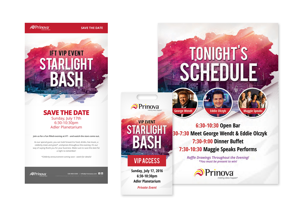 Prinova Party print collateral