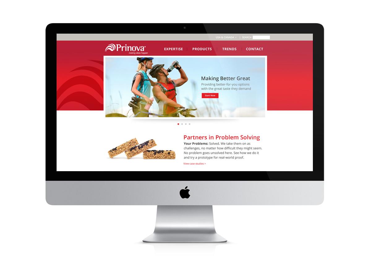 Prinova website screenshot