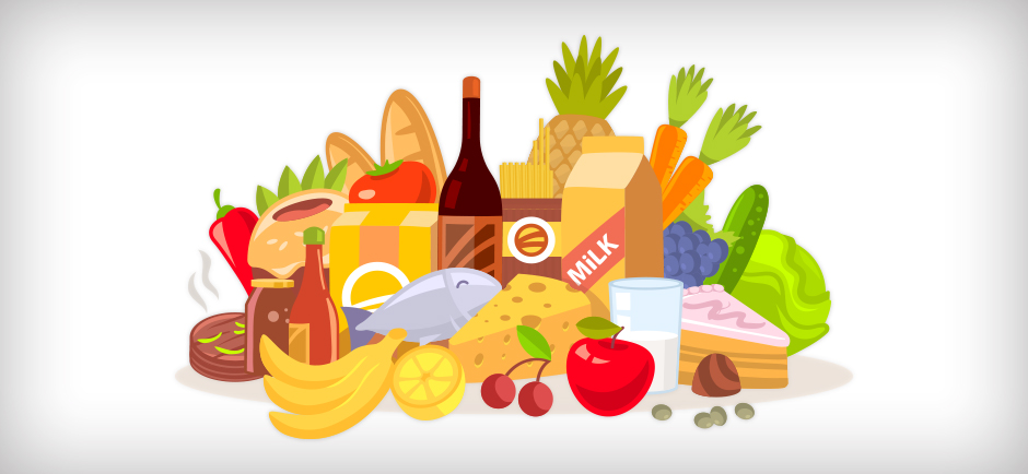 graphic of group of different foods