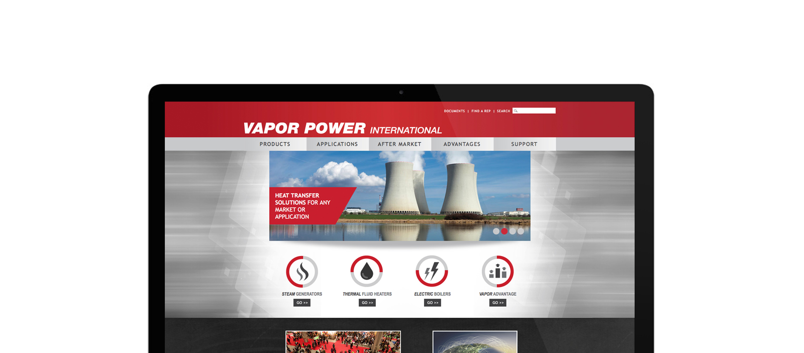 Vapor Power website screenshot