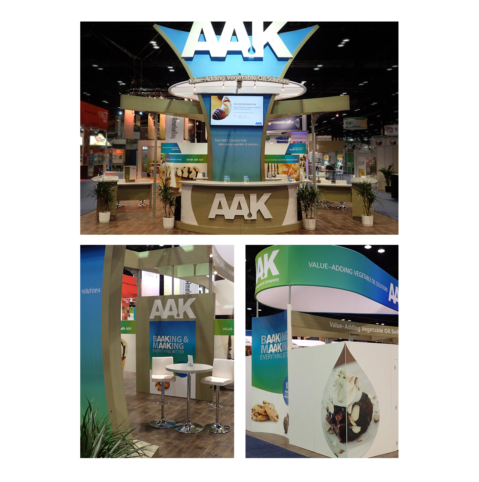views of AAK booth at tradeshow