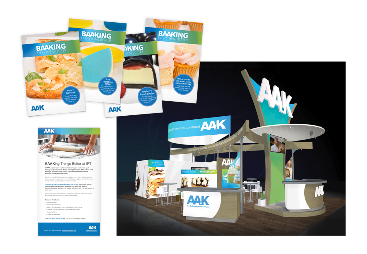 AAK booth with tradeshow collateral