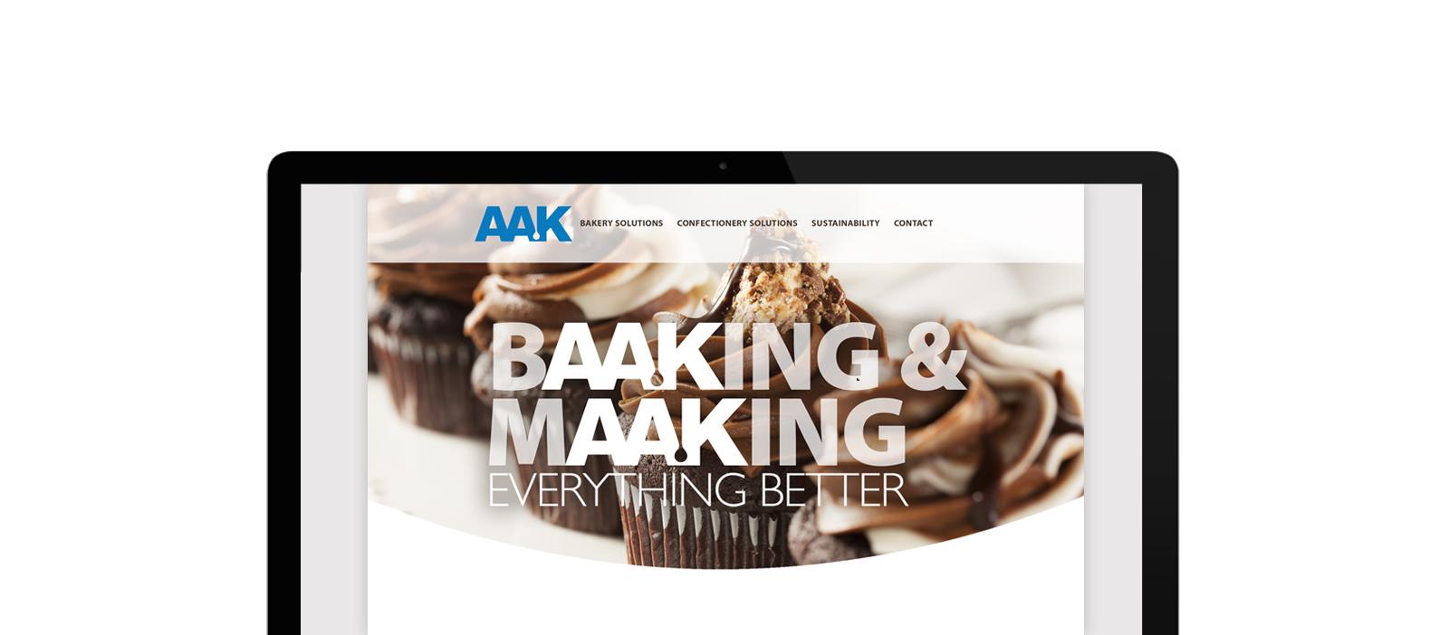 screenshot of AAK website
