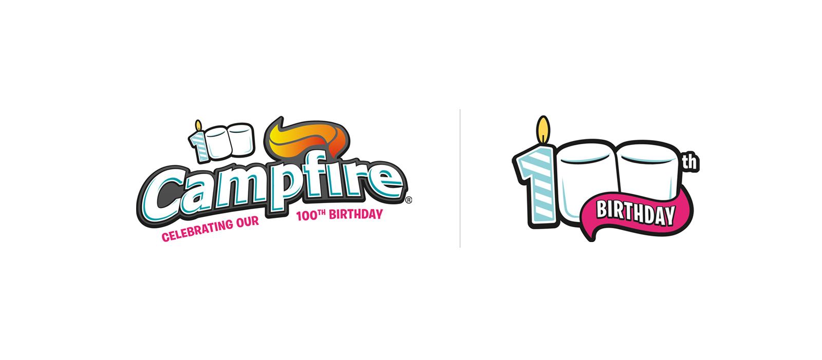 Campfire 100th birthday logos