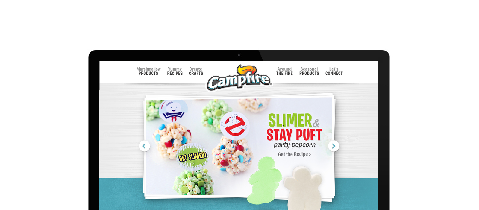 Campfire Ghostbusters Webpage screenshot