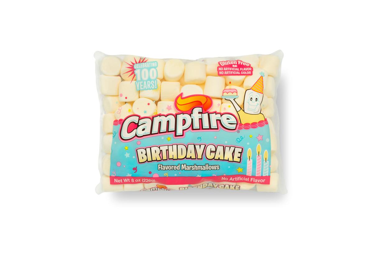 Campfire Birthday cake marshmallows