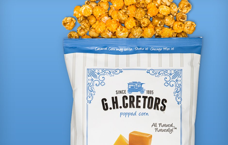 GH Cretors popcorn bag