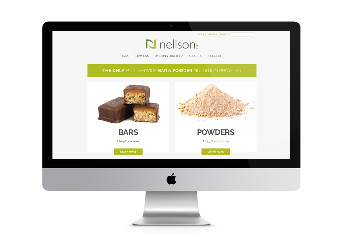 Nellson Website screenshot