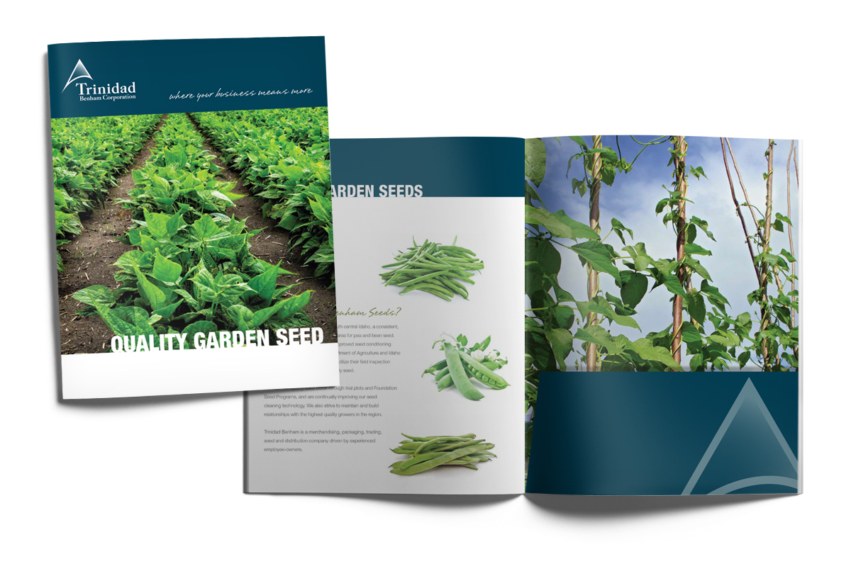 Seed brochure with plants