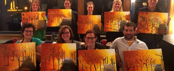 ColinKurtis employee paint night