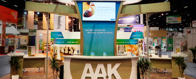 front view of AAK booth