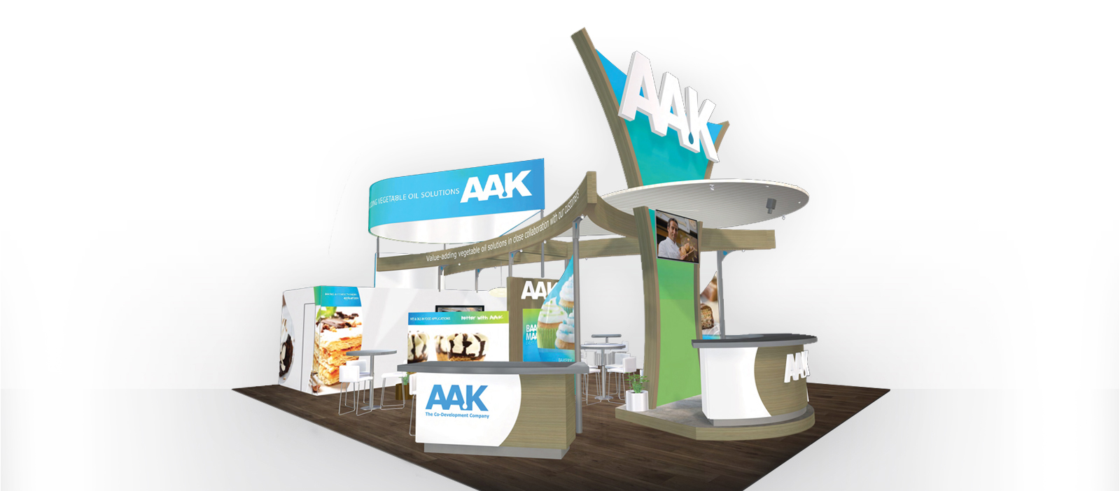 AAK booth mock up