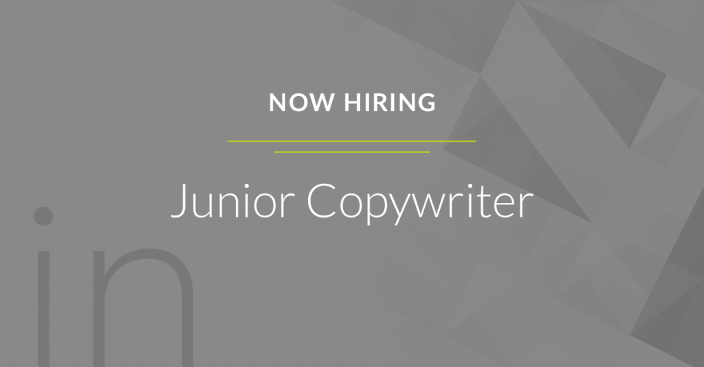 Now Hiring Junior Copywriter