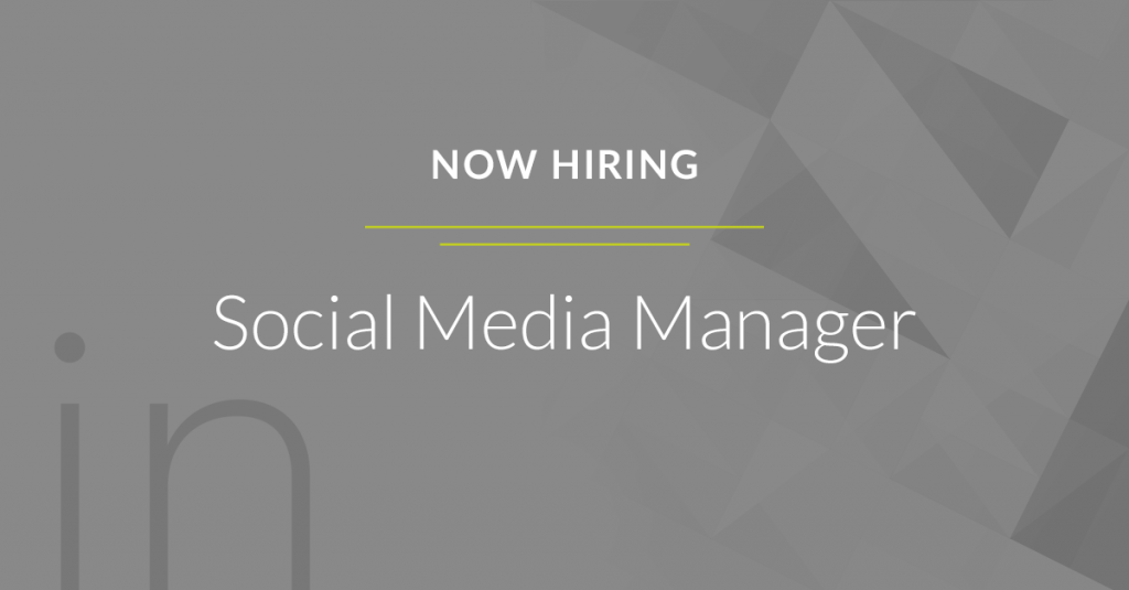 Now Hiring Social Media Manager