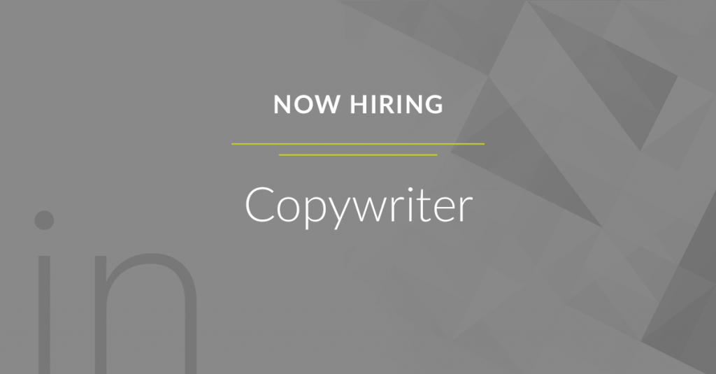 Now Hiring Copywriter